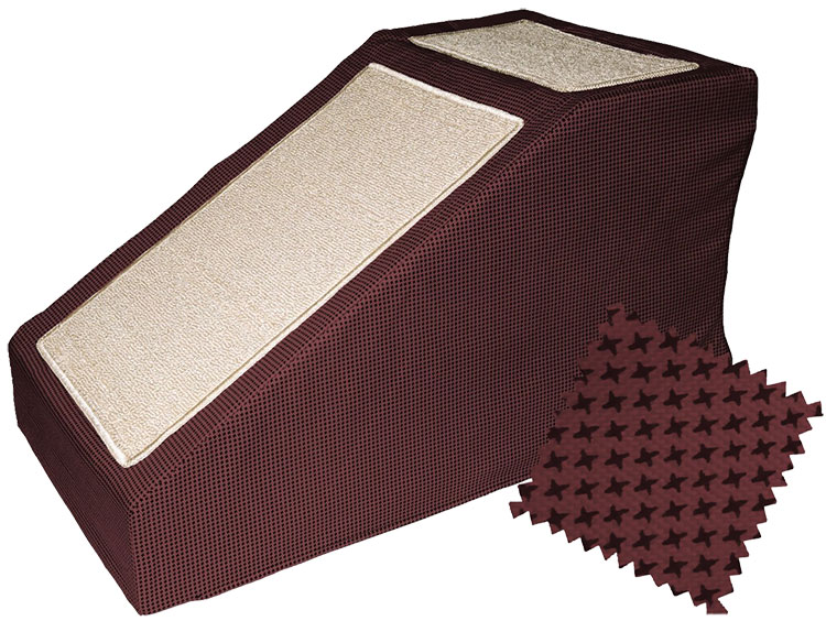 Pet Gear Designer Stramp with Removable Cover - Burgundy