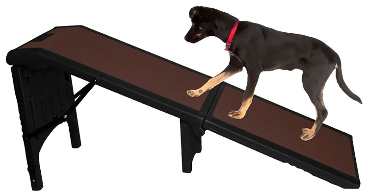 Pet Gear Extra Large Free-Standing Ramp - Black/Chocolate