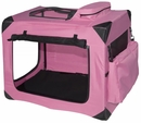 "Pet Gear Generation II Deluxe Portable Soft Crate 27.5"" - Pink"