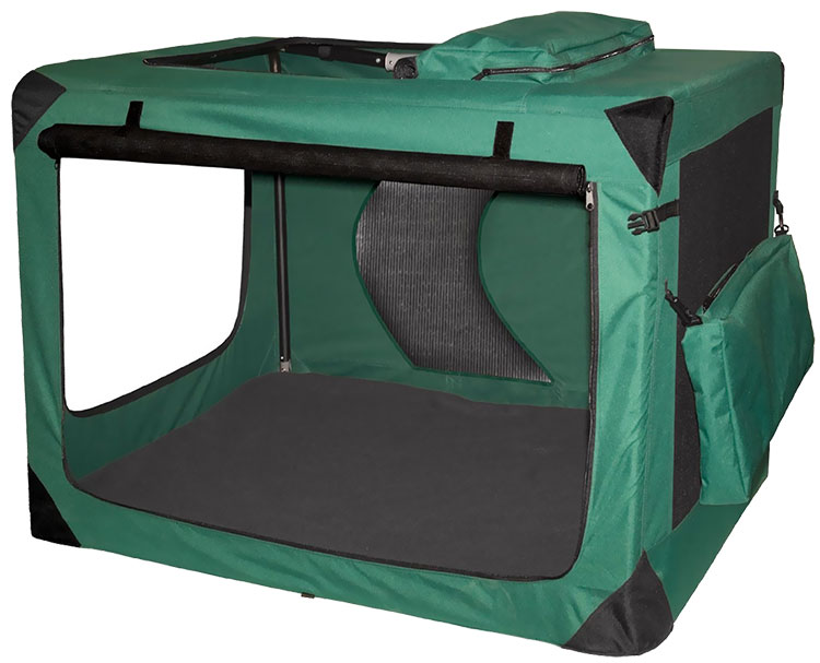 "Pet Gear Generation II Deluxe Portable Soft Crate 42"" - Moss Green"