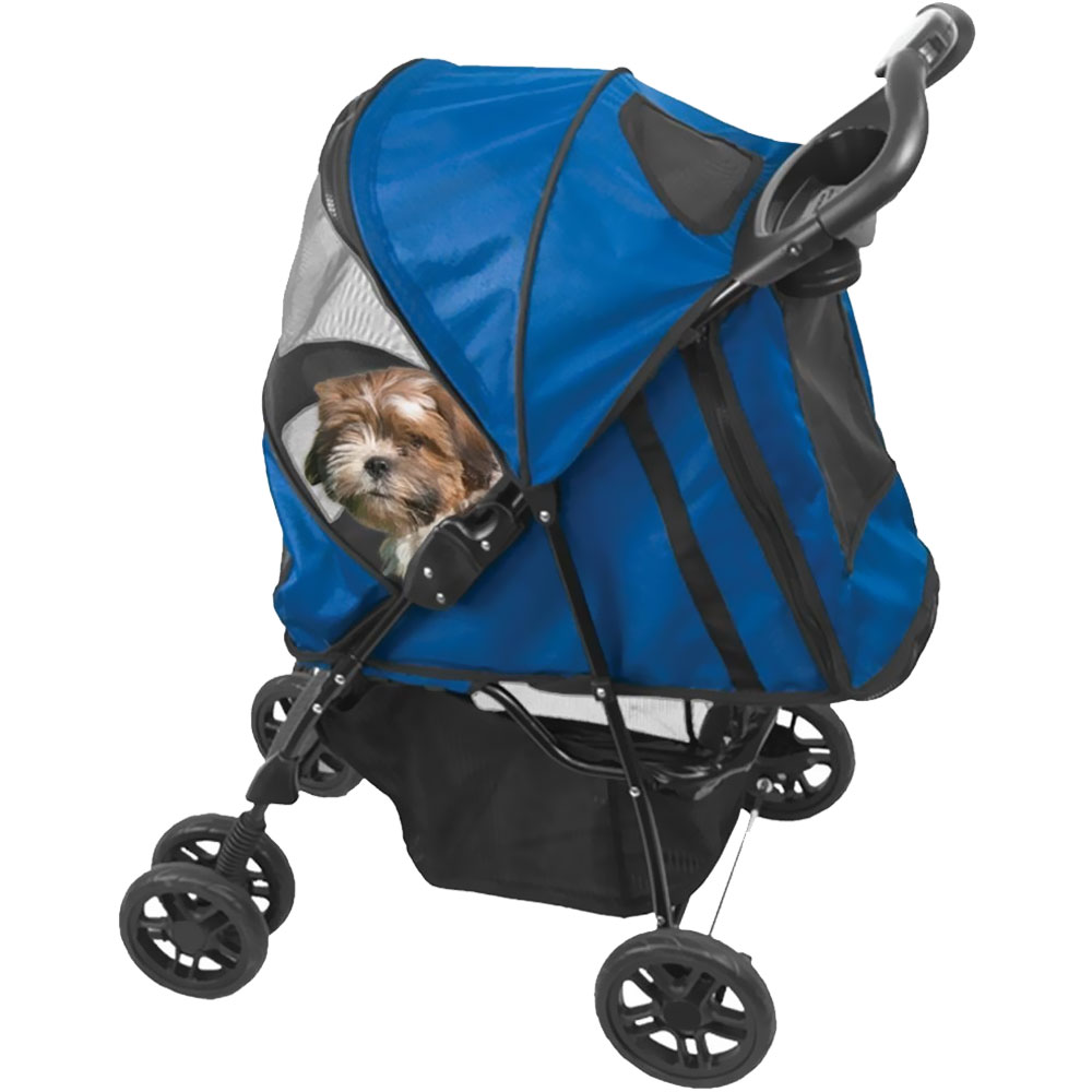 Pet Gear Happy Trails Pet Stroller - Cobalt Blule