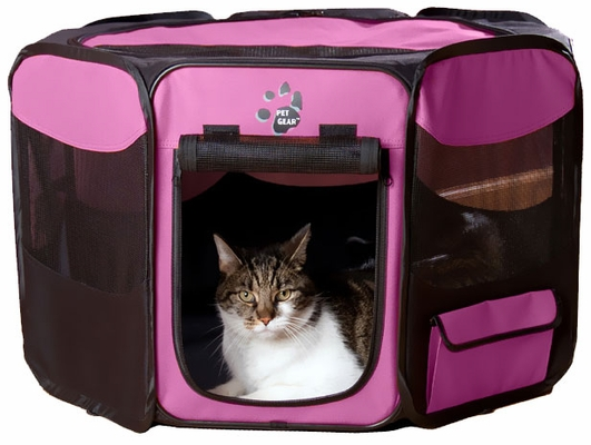"""Pet Gear Octagon Pet Pen With Removable Top 29"""" - Pink"""