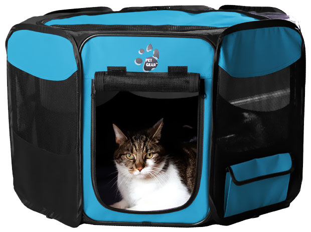 "Pet Gear Octagon Pet Pen With Removable Top 36"" - Ocean Blue"