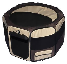 "Pet Gear Octagon Pet Pen With Removable Top 42"" - Sahara"