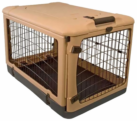 "Pet Gear The Other Door Steel Crate 36"" - Tan/Black"