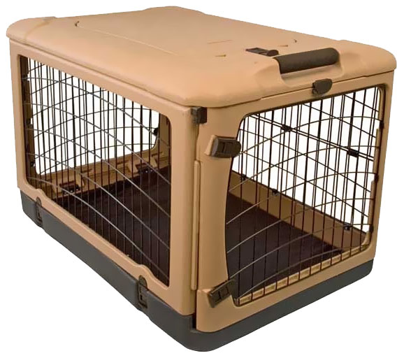 "Pet Gear The Other Door Steel Crate 42"" - Tan/Black"