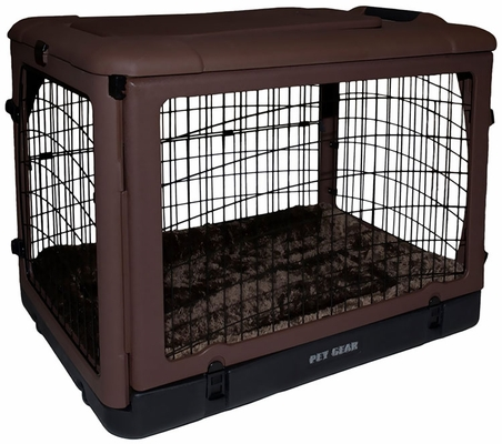 """Pet Gear The Other Door Steel Crate with Pad 27"""" - Chocolate"""