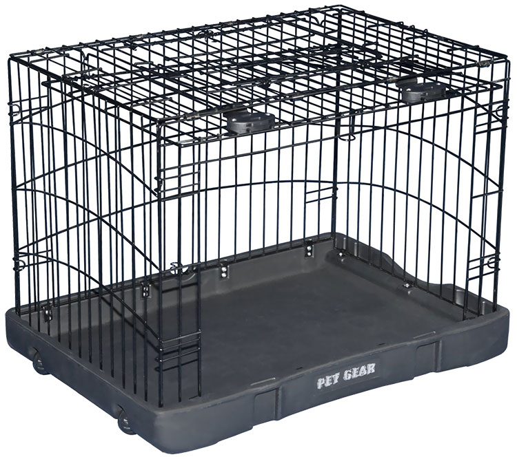 "Pet Gear Travel Lite Steel Crate 36"" - Black"