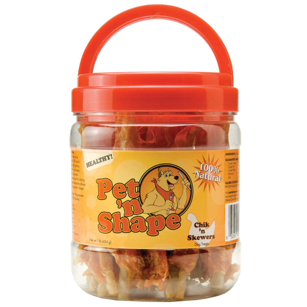 Pet 'N Shape Chik 'n Skewers Dog Treats (1 lb)