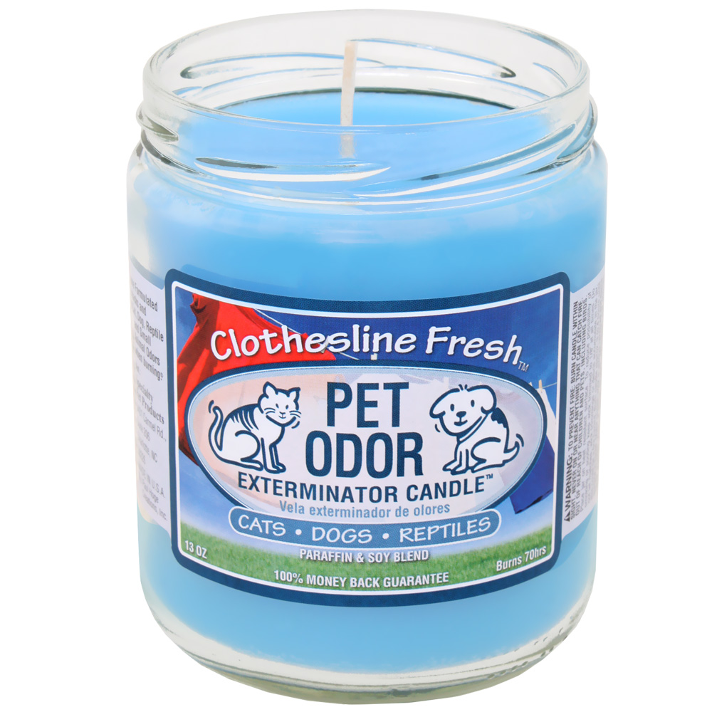 Pet Odor Exterminator Candle - Clothesline Fresh Jar (13 oz)