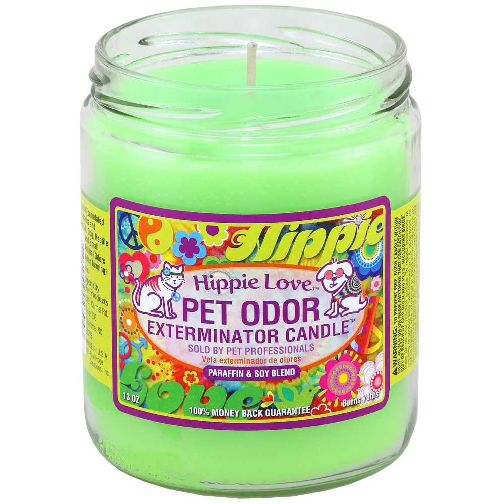 Pet Odor Exterminator Candle - Hippie Love Jar (13 oz)