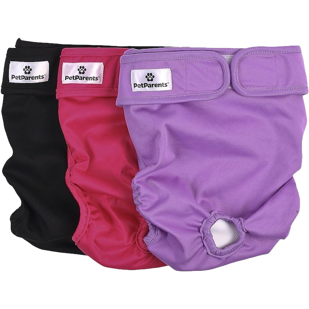 Pet Parents Washable Dog Diapers 3-Pack - Princess (Small)