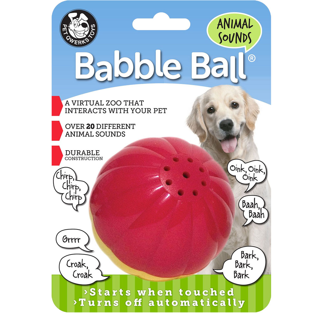Pet Qwerks Animal Sounds Babble Ball - Large