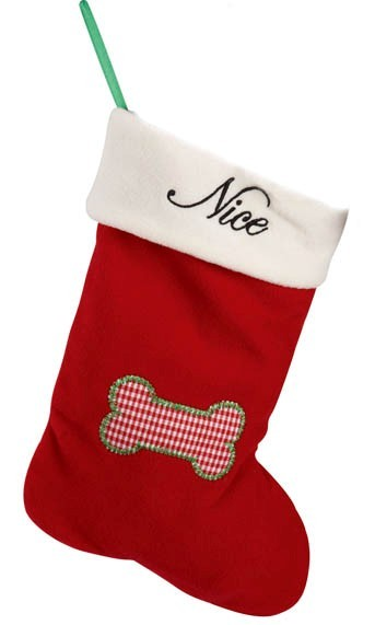 Pet Studio Naughty & Nice Dog Stocking