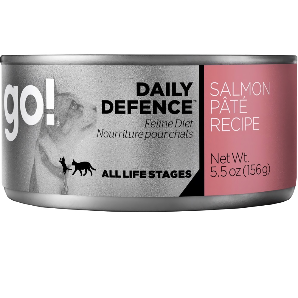 Petcurean Go! Daily Defence Cat Food - Salmon Pate (24x5.5oz)