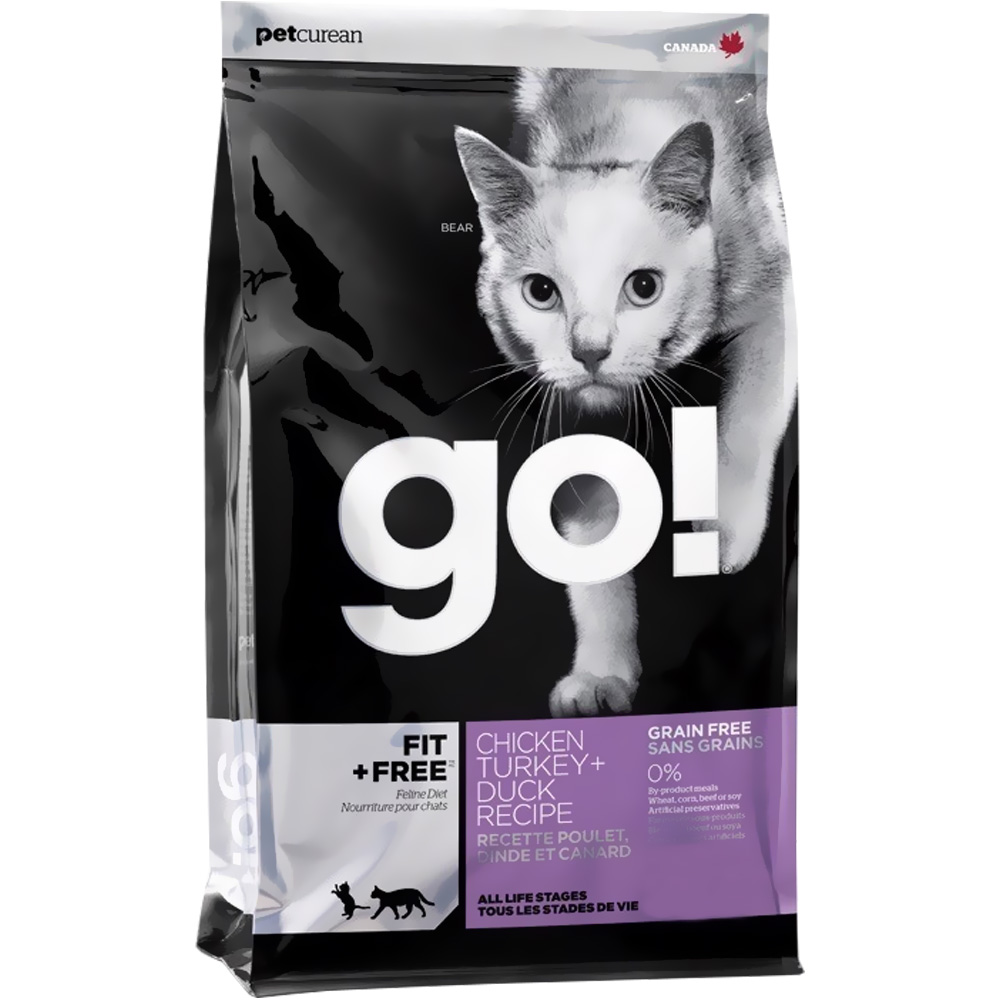 Petcurean Go! Fit + Free Cat Food - Chicken Turkey + Duck (8 lb)