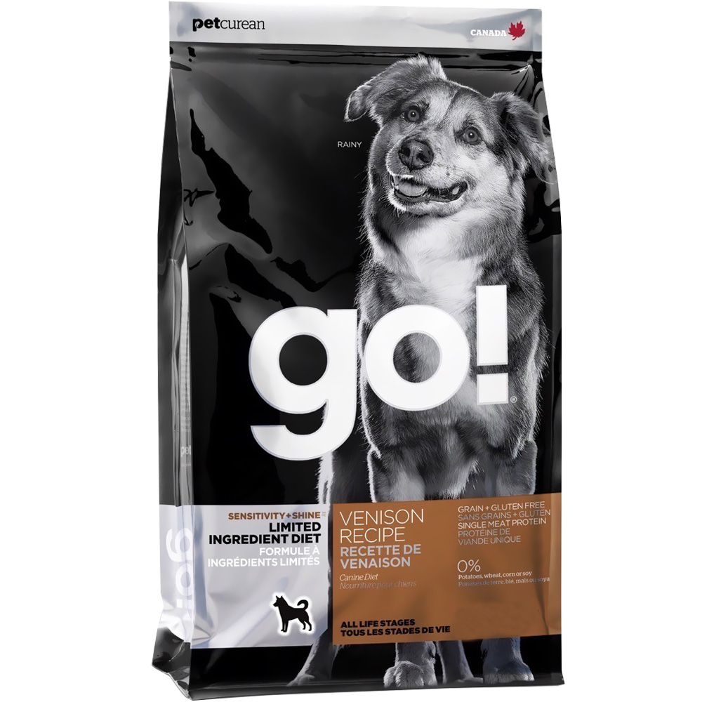Petcurean Go! Sensitivity + Shine Dog Food - Venison (25 lb)