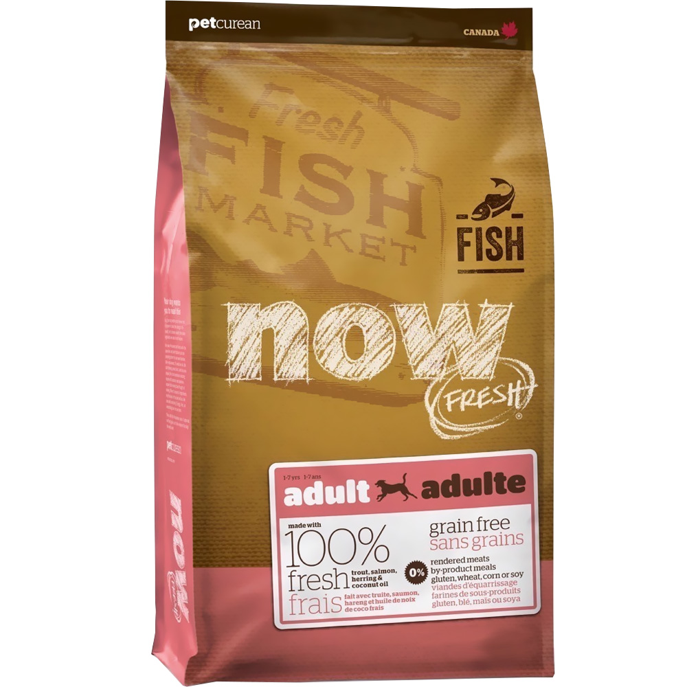 Petcurean Now Fresh Adult Dog Food - Fish (25 lb)