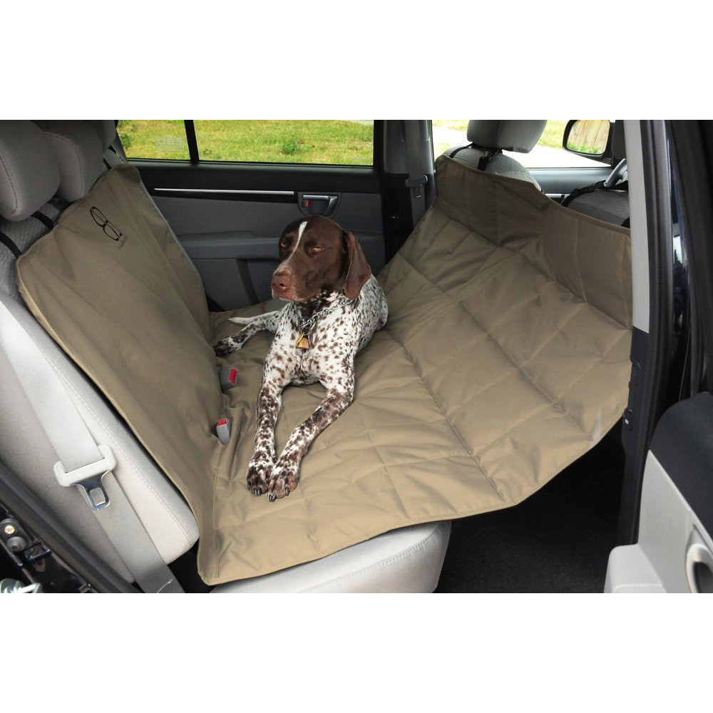 Petego Dog Car Seat Protector Hammock - Tan (X-Large)