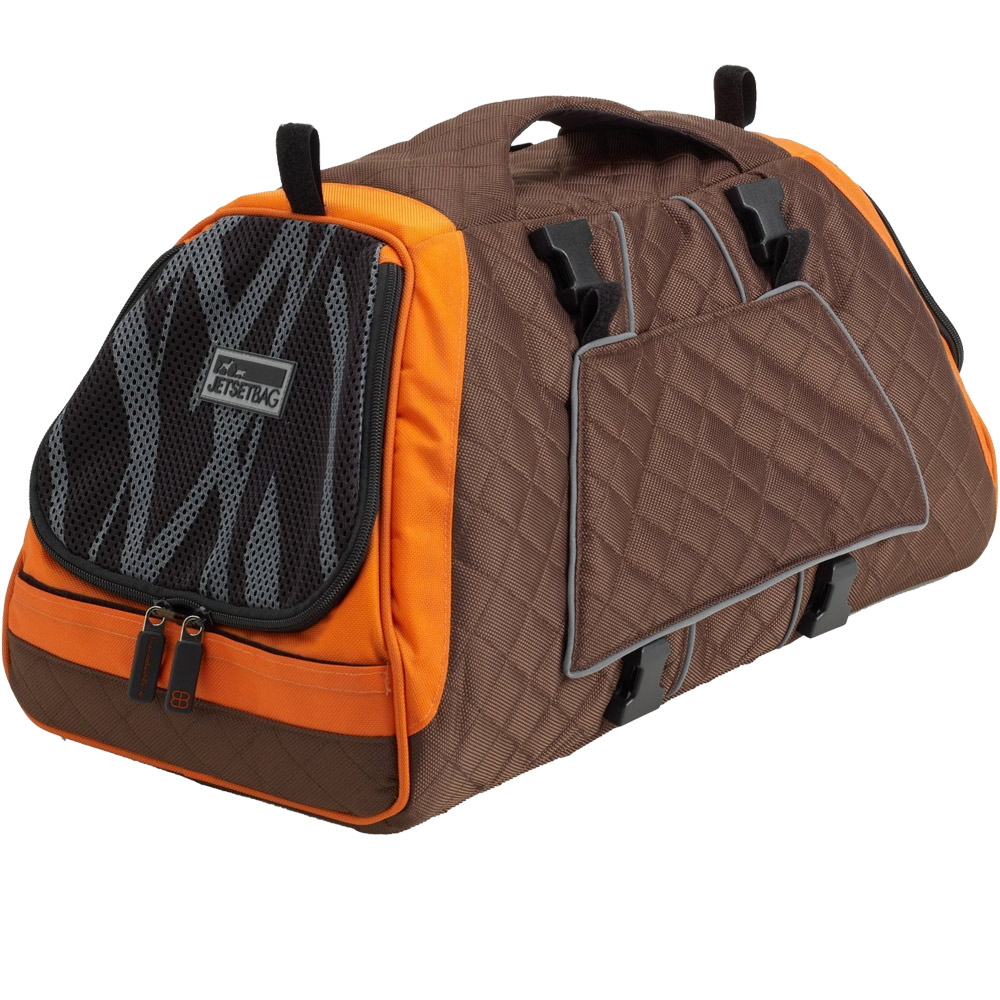 Petego Jet Set Pet Carrier with Forma Frame - Orange/Brown (Large)