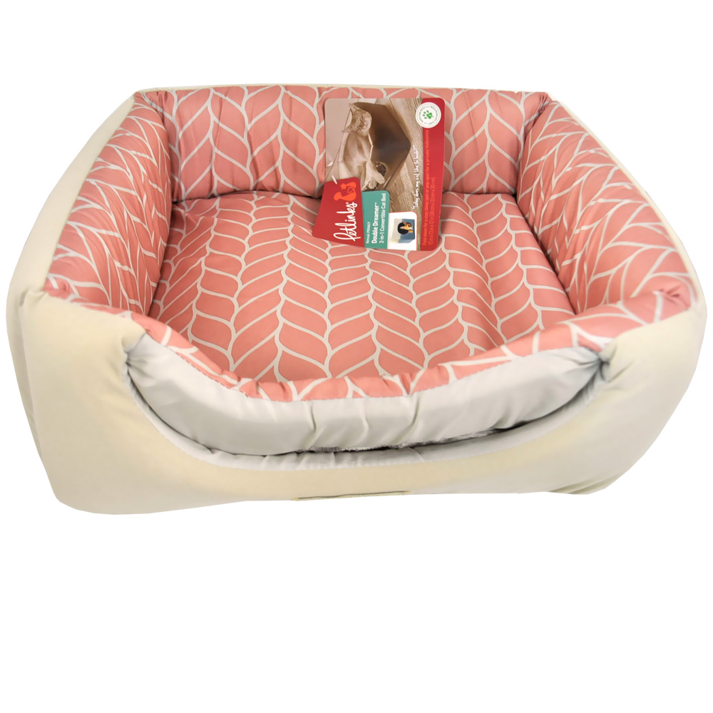 Petlinks Double Dreamer Cat Bed - Rose Leaf