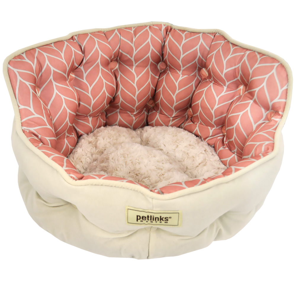 Petlinks Purrr Heaven Pet Bed - Rose Leaf