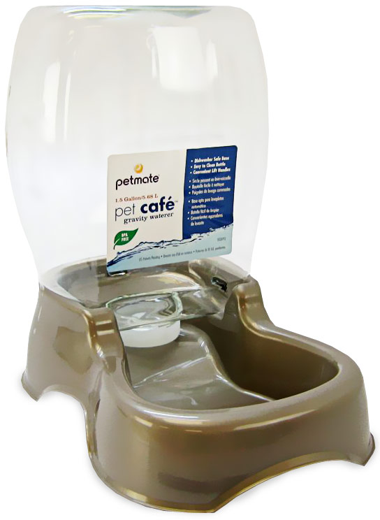 Petmate Cafe Waterer 1.5 Gallon - Pearl Tan