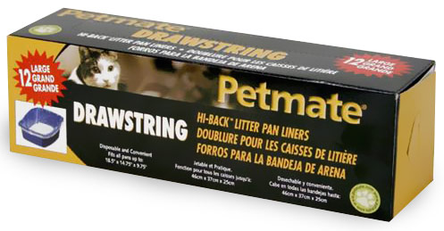 Petmate Liner High Back Drawstring Large (12 pack)
