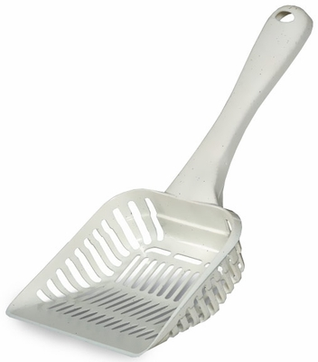 Petmate Litter Scoop with Microban Jumbo - Bleached Linen