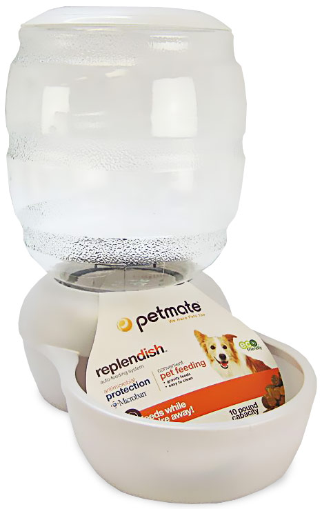 Petmate Replendish Feeder with Microban (10 lb) -Pearl White
