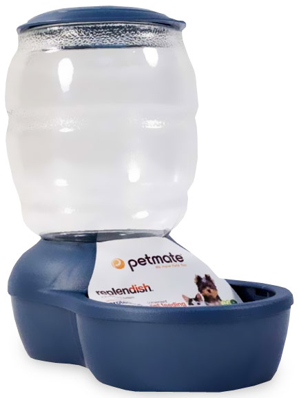 Petmate Replendish Feeder with Microban (2 lb) - Pearl Peacock Blue
