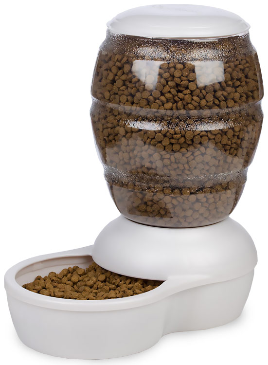 Petmate Replendish Feeder with Microban (5 lb) -Pearl White