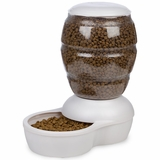 Petmate Replendish Feeder with Microban (5 lb) - Pearl White