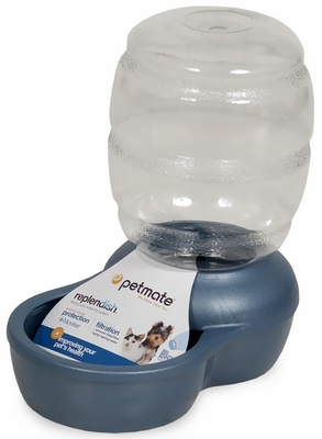 Petmate Replendish Waterer with Microban 0.5 Gallon - Pearl Peacock Blue