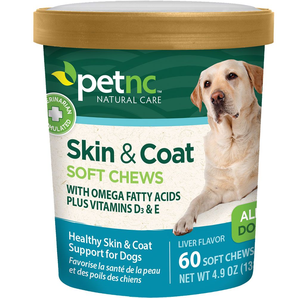 PetNC Natural Care Skin & Coat Soft Chews (60 count)