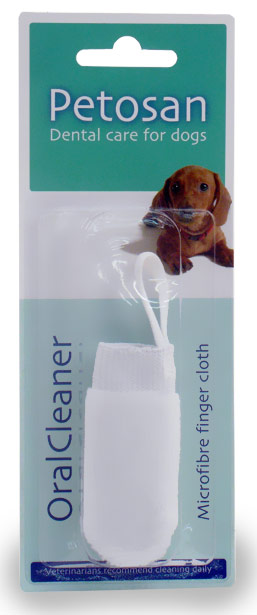 Petosan Microfiber Fingerbrush Oral Cleaner for Dogs