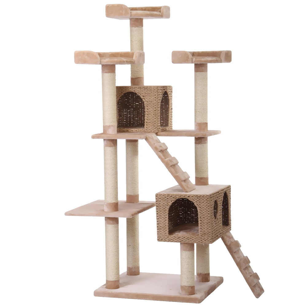 Petpals towers cat tree entirelypets for Pictures of cat trees