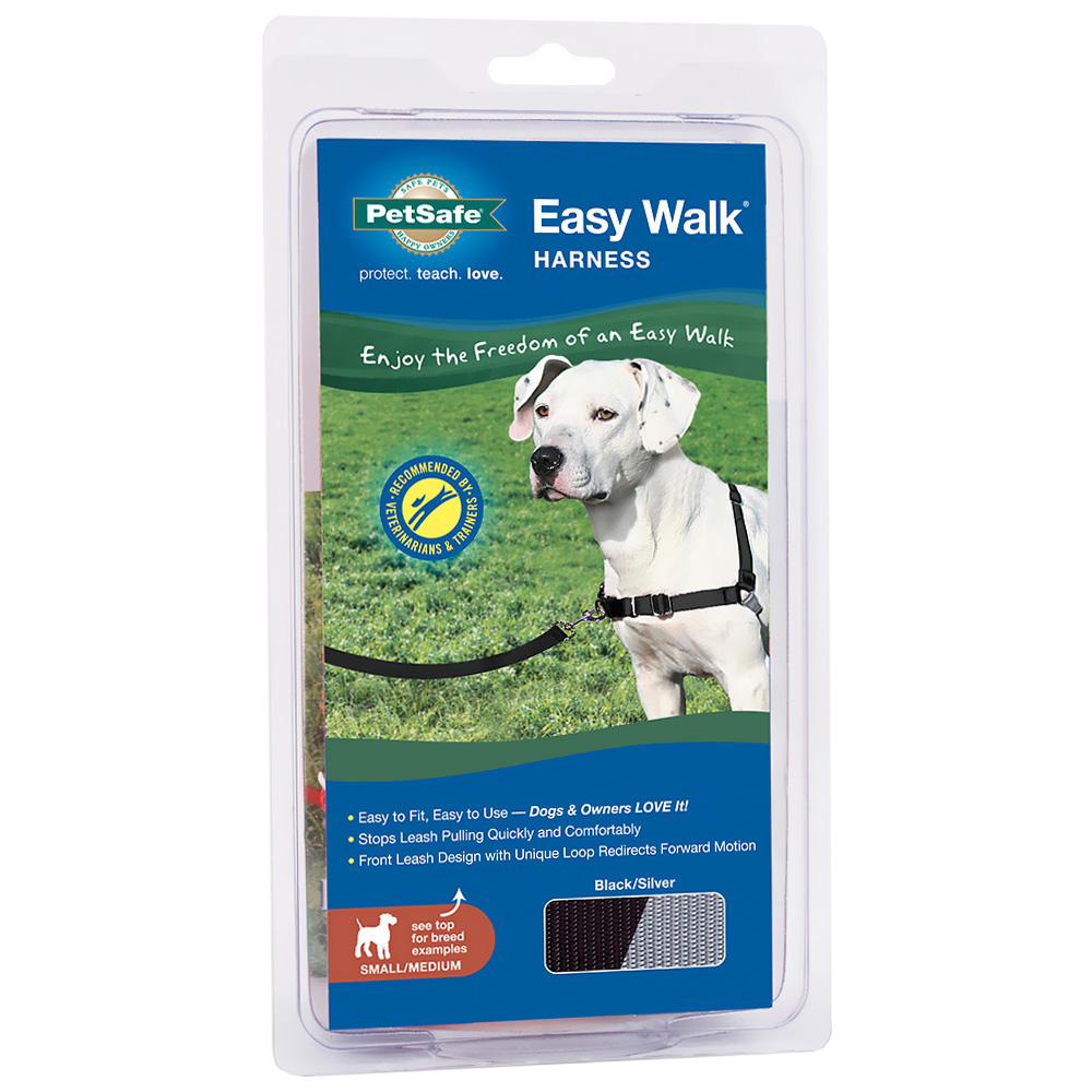 PetSafe Easy Walk Harness - Black/Silver (Small/Medium)