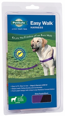 PetSafe Easy Walk Harness - Deep Purple/Black (Large)