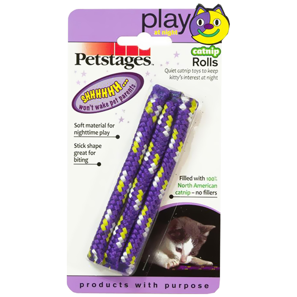 Petstages Night Time Catnip Rolls