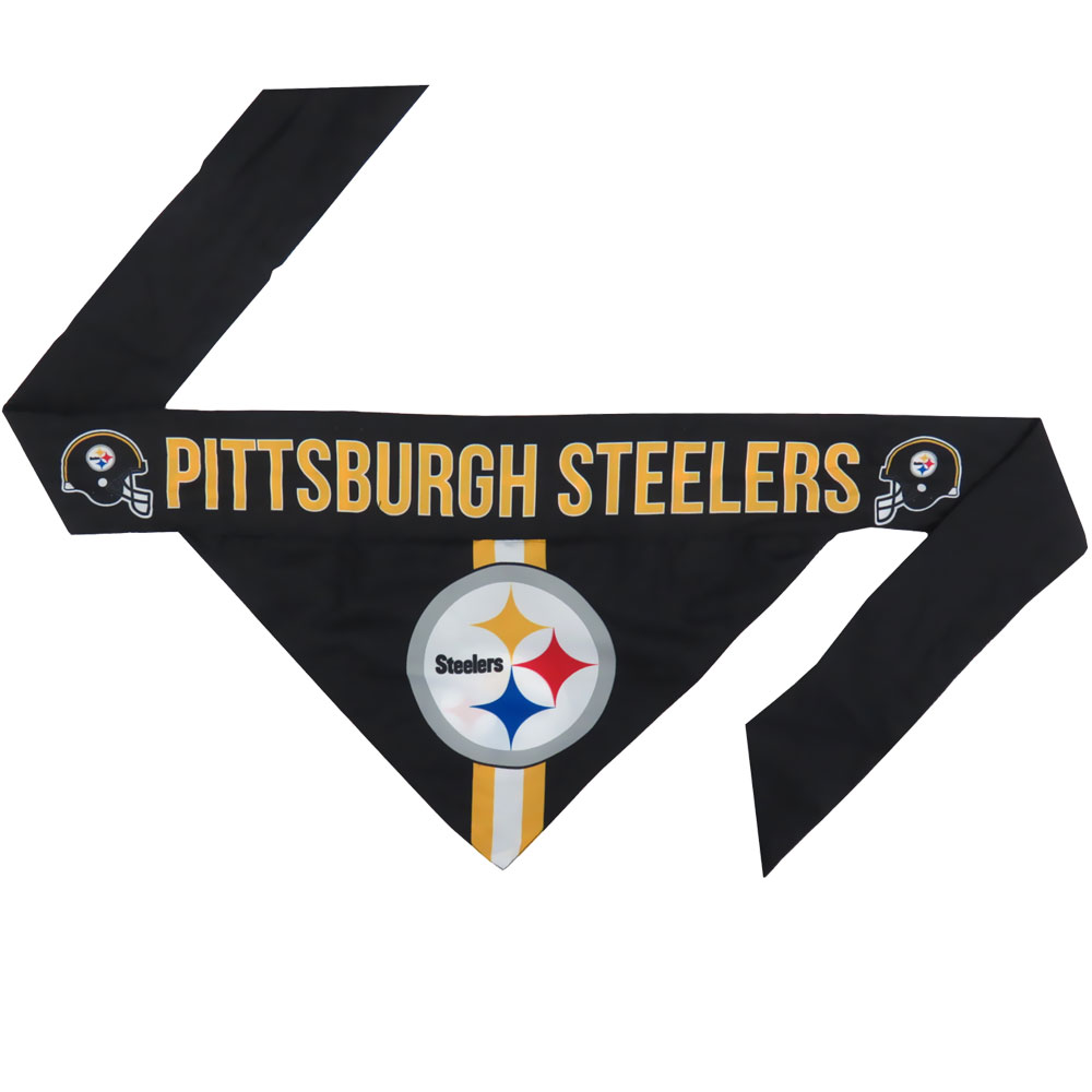 Pittsburgh Steelers Dog Bandana - Tie On (Small)