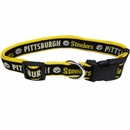 Pittsburgh Steelers Dog Collar - Ribbon (Large)