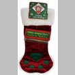 Plush Puppies Holiday Paw Stocking w/ Free Glitter Pen - Small Red