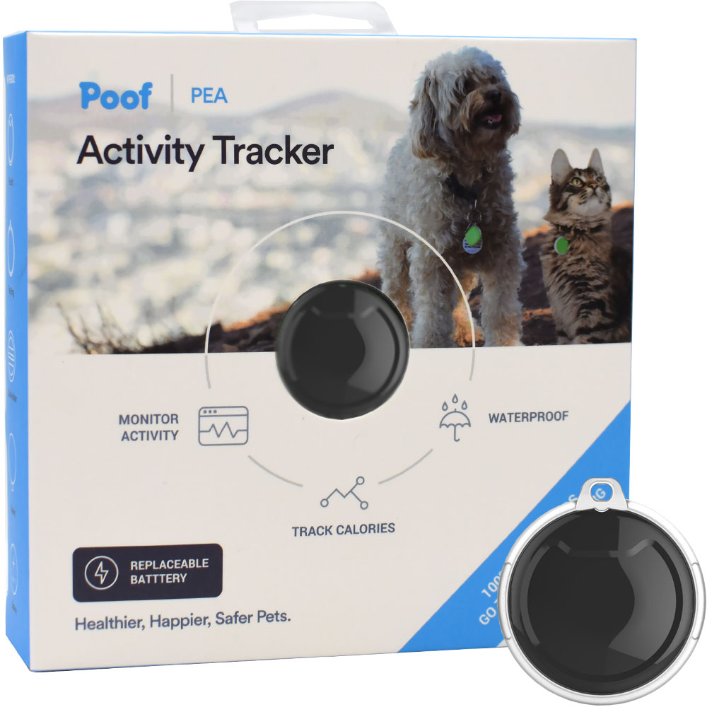 Poof Pet Tracker - Pea (Black)