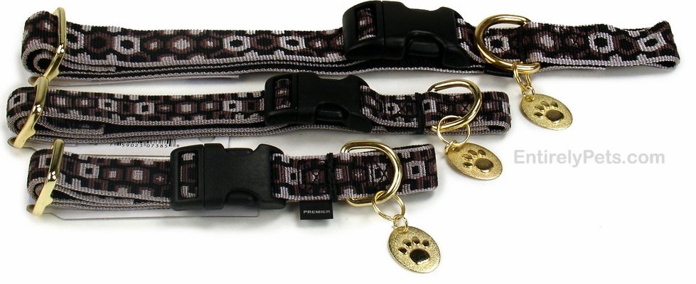 Premier Quick Snap Collars - SILVER & BLACK