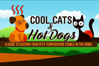 Preventing Hypothermia and Heat Stroke in Dogs and Cats [Infographic]
