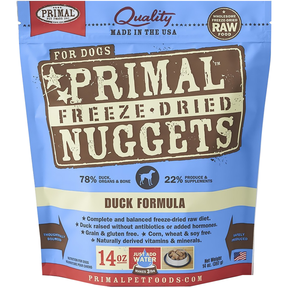 Primal Freeze Dried Duck Dog Food (14 oz)