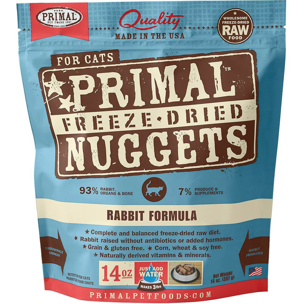 Primal Freeze Dried Nuggets for Cats - Rabbit Formula (14 oz)