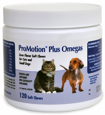 Promotion Plus Omegas Soft Chews - Cats & Small Dogs (120 ct)