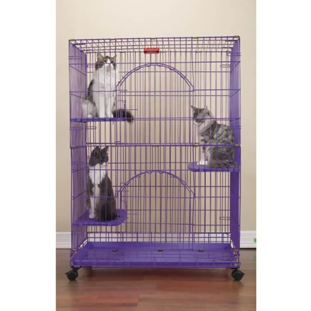ProSelect Foldable Cat Cage 35.5Lx24Wx48 - Purple